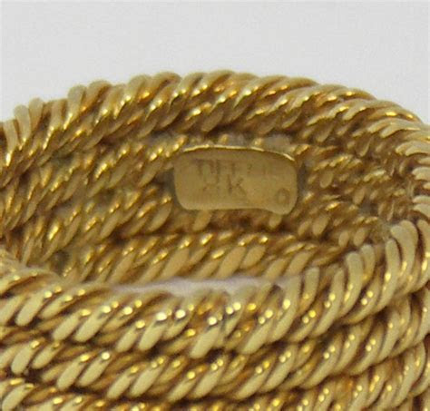 Tiffany Four Row Twisted Rope Gold Band at 1stdibs