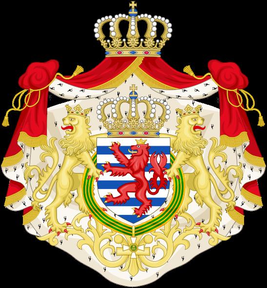 Archivo: Mayor escudo de armas del Gran Ducado de Luxembourg.svg