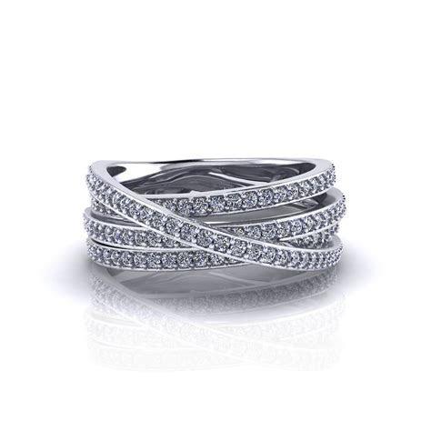 Crossover Diamond Ring   Jewelry Designs