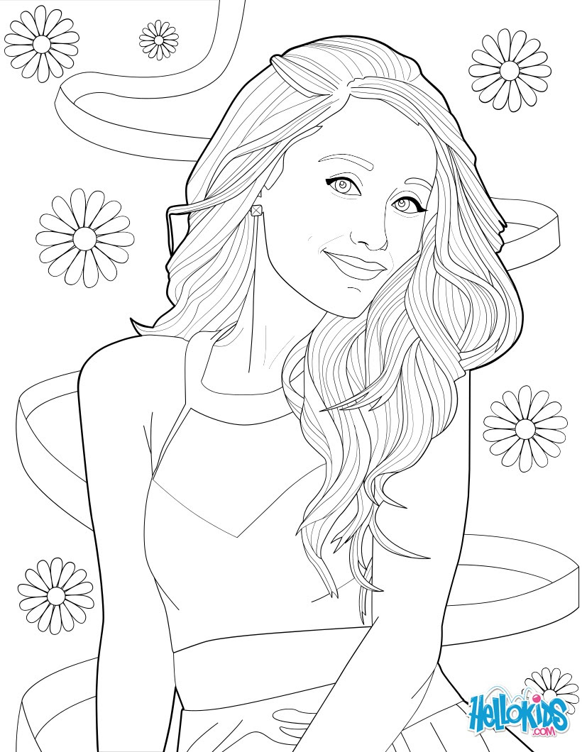 Coloring picture of ariana grande coloring pages  Hellokids.com