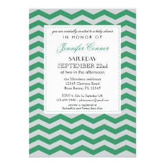 Elegant Chevron Unisex Baby Shower Invitation