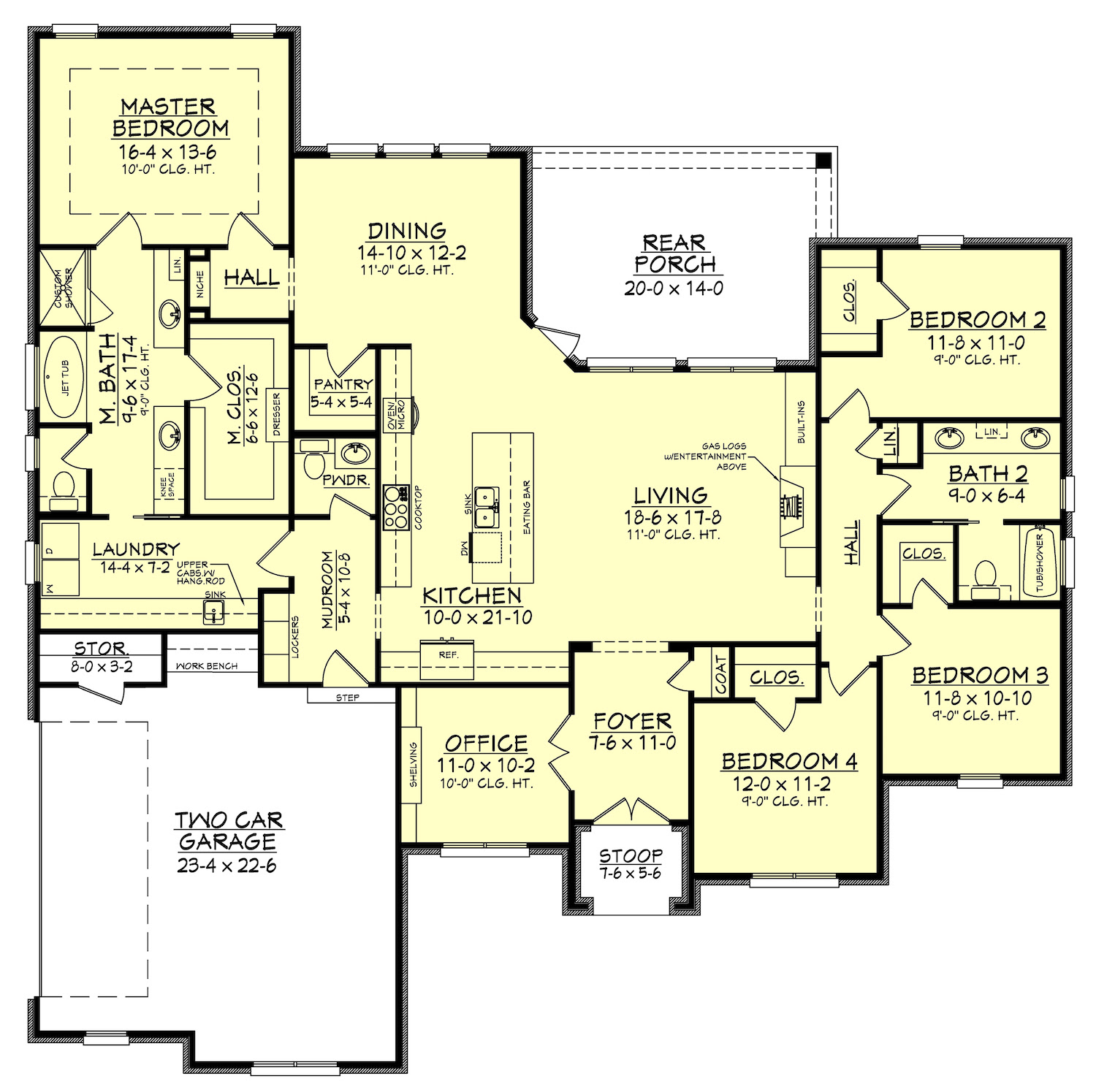 4 Bedrm, 2506 Sq Ft European House Plan 1421162 - Florida House Plan With Guest Wing 86030BW Architectural Designs HousePlans