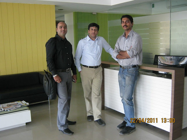 Santosh with Rajesh Narang, VP, Pride Purple Group, at Park Springs - 2 BHK - 3 BHK Flats - Lohegaon Gram Panchayat - Dhanori - Pune 411 032 - By Pride Purple Group & Rainbow Housing