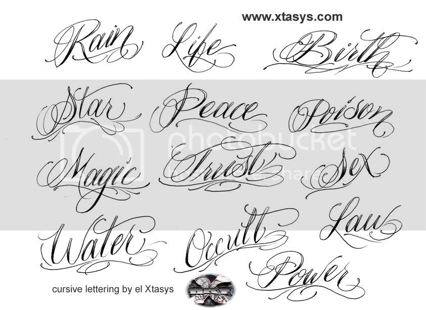 nonylohan: tattoo lettering fonts cursive