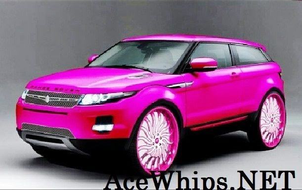 Ford Fusion Black Rims >> Ace-1: Mayra's Candy Pink 2013 Range Rover Evoque on 28 ...