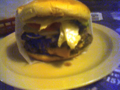 Double meat cheeseburger