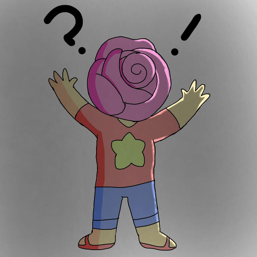 Someone told me I should draw Steven with a big rose as his head and have his arms flailing around....So I drew it XD Oh my stars I love this XD