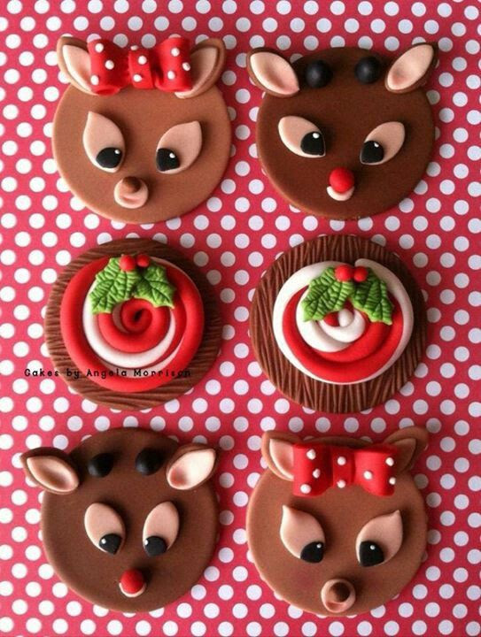 Cute christmas cupcake toppers