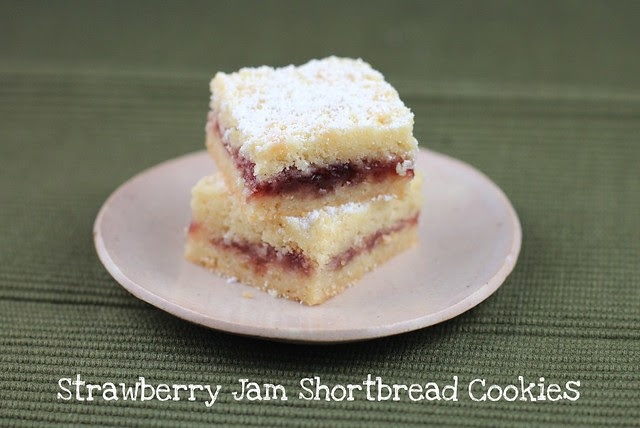 Lydia's Austrian Strawberry Shortbread Bar Cookies