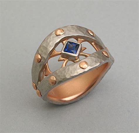 ELICHAI JEWELRY ~ Palladium Viking Ring, 14k Gold
