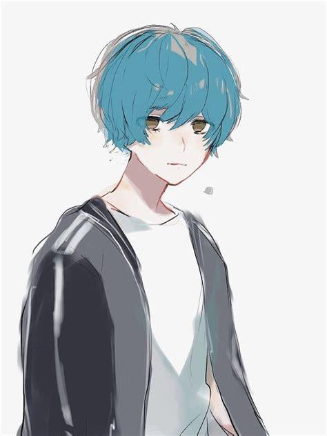 pisces anime     blue anime blue hair