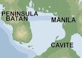 Bahía de Manila. Al oeste de la isla de Luzón