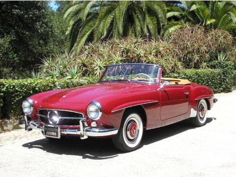 Red 1960 Mercedes-Benz SL Class 190 SL Roadster with Tan interior Red