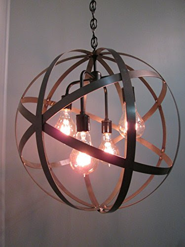Where To Buy Industrial Steel Orb Sphere Wine Barrel Ring Chandelier