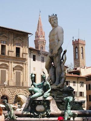 Fountain of Neptune on the Piazza della Signoria in Florence, Italy