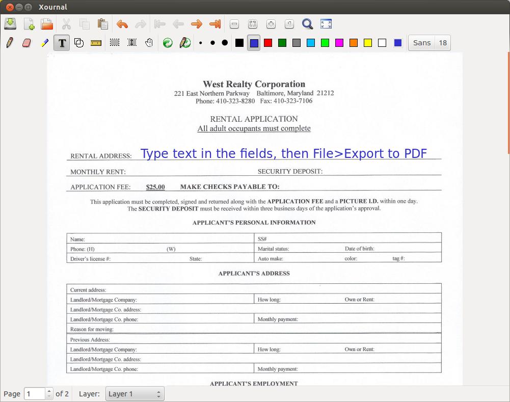 Create fillable or editable fields in a PDF - Ask Ubuntu