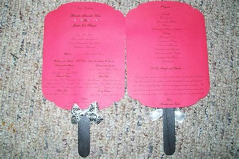 msmonickas diy paddle fan programs weddingbee photo gallery
