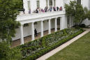 Spruced-up White House Rose Garden set for first lady speech