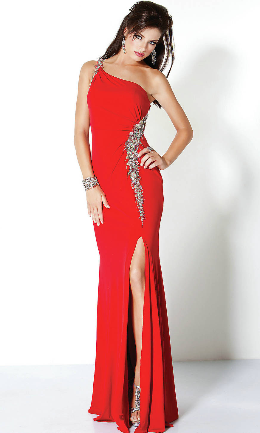 Red Long Gown 1