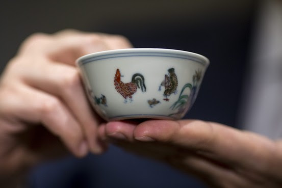 Chinese Art Collector Stirs Pot With Sip Of Tea From 36 Million Cup