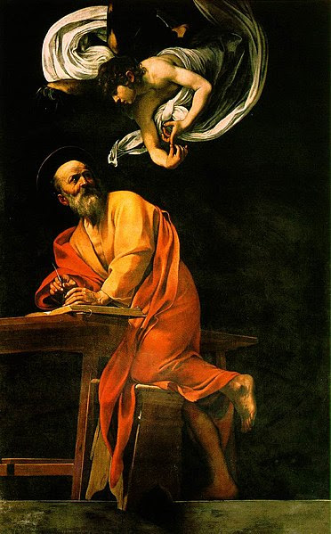 Ficheiro:The Inspiration of Saint Matthew by Caravaggio.jpg