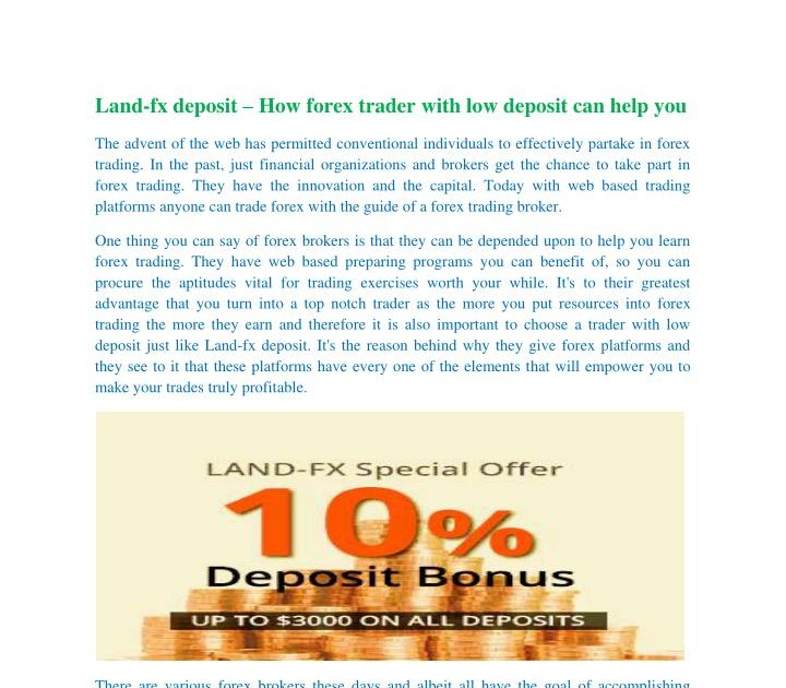 Forex Brokers Low Deposit   Forex Tips Trading