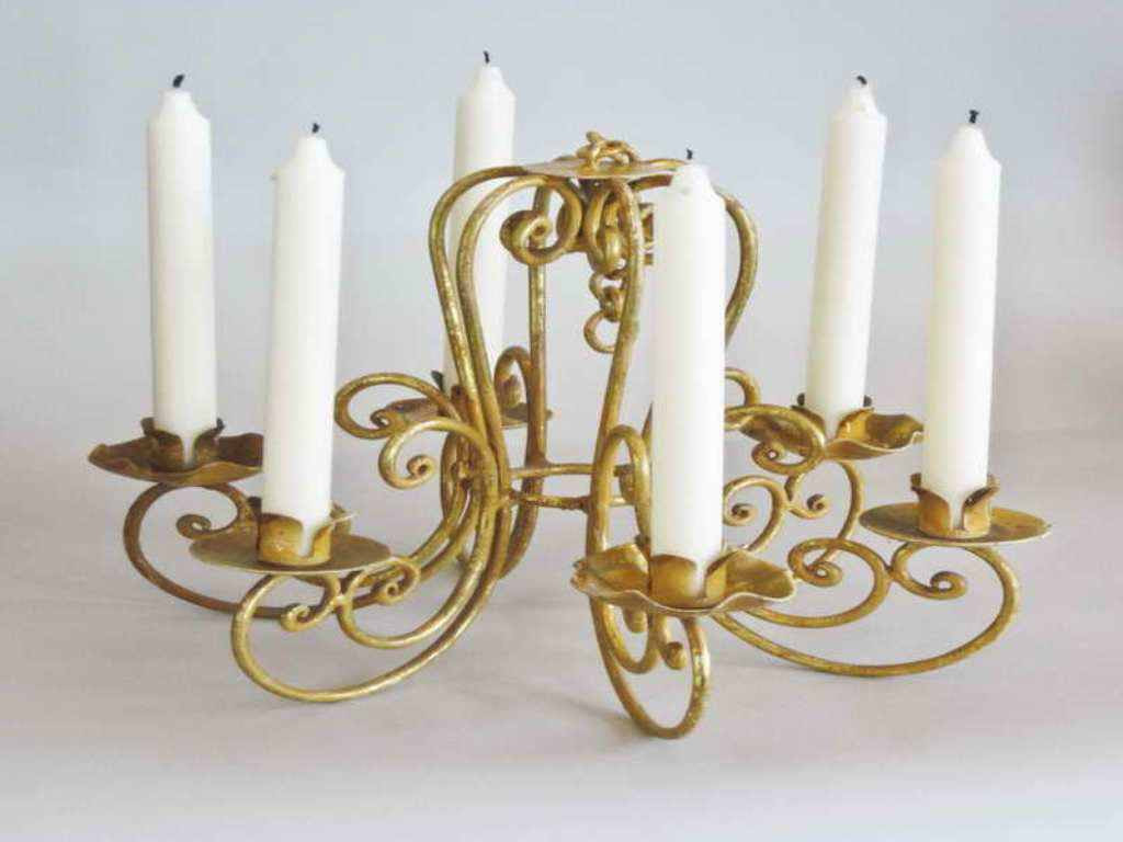 Beautiful Real Candle Chandelier   HomesFeed