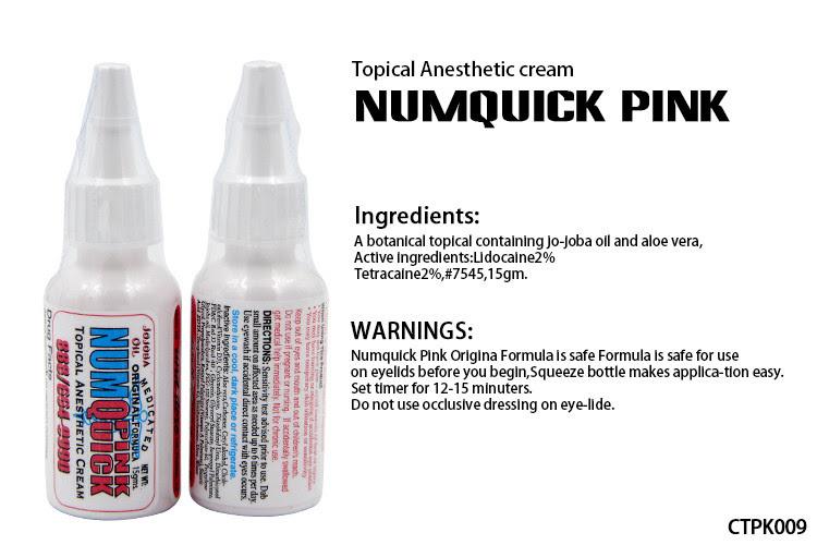 Numquick Pink Tattoo Numb Cream Water Based Tattoo Numbing Spray