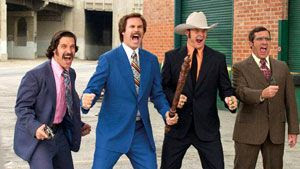 Paul Rudd, Will Ferrell, David Koechner and Steve Carell reunite in ANCHORMAN: THE LEGEND CONTINUES.
