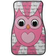 I heart Owls Car Floor Mats