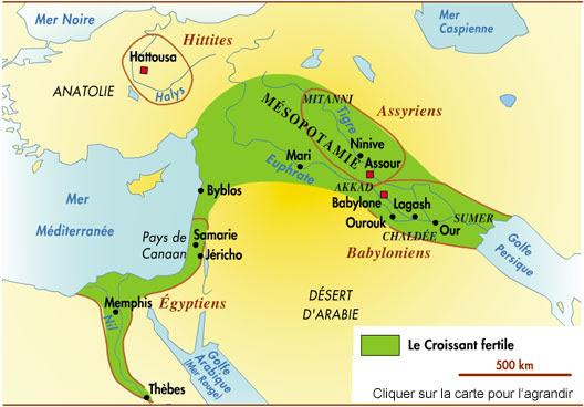 Le Croissant fertile (8000 avant JC)