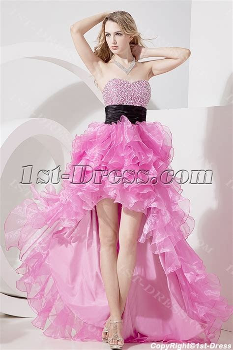 Glamorous Fuchsia High low Quinceanera Gowns:1st dress.com