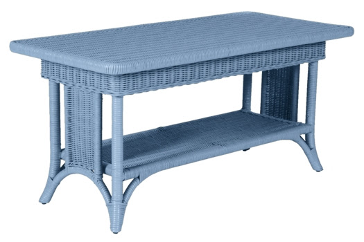 Wicker Coffee Tables   Painted Cottage and Coastal Living Style ...