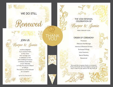 DIY Vow Renewal Invitations: Free Customizable Invitation