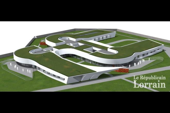 La neuvième unité pour malades difficiles sera construite à la place d'un bâtiment existant. Elle sera composée de trois bâtiments.   Photo DR