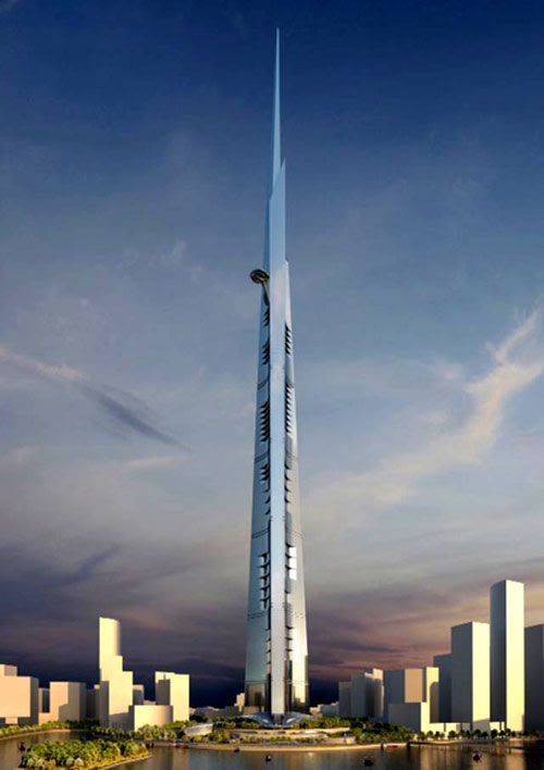 An artist's concept of the Kingdom Tower in Saudi Arabia.