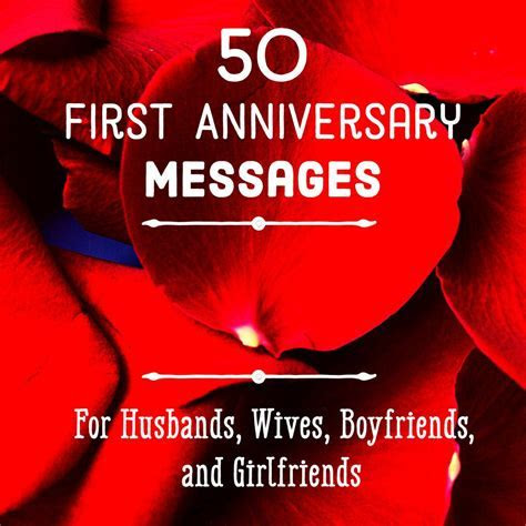 First Anniversary Quotes and Messages for Him and Her