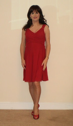 Red dress by Rhianna Rowlands