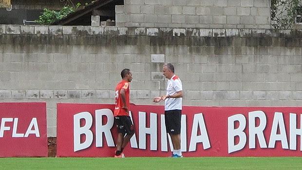 Dorival Junior Liedson treino Flamengo (Foto: Richard Souza / Globoesporte.com)