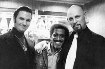 "Sammy Davis Jr. with Anton LaVey, the head of the Church of Satan - a powerful organization that put a ""Hollywood"" facade on hardcore Satanism."