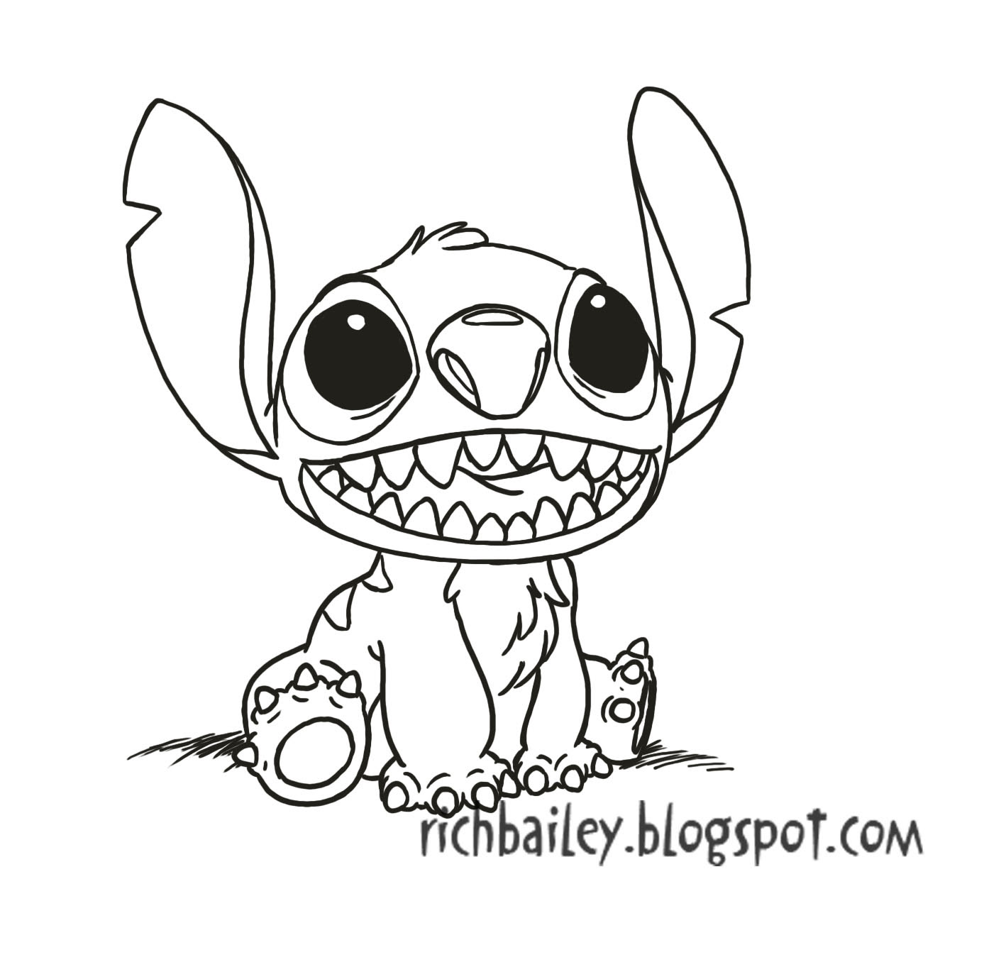 Disney Baby Stitch Coloring Pages | Stitch coloring pages, Disney ... | 1363x1387