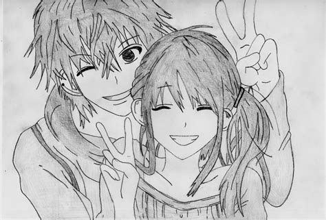 anime couple drawing  dragonwarrior anime couple