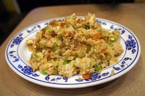 tofu char siu garlic fried rice