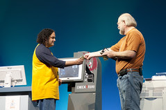 """Manuel Tijerino and James Gosling, General Session """"The Toy Show"""" on June 5, JavaOne 2009 San Francisco"""