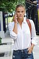nina agdal wears nothing at all while waiting for pizza 02