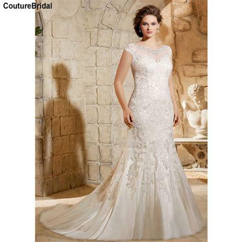 Plus Size Lace Mermaid Wedding Dresses Large Size Wedding