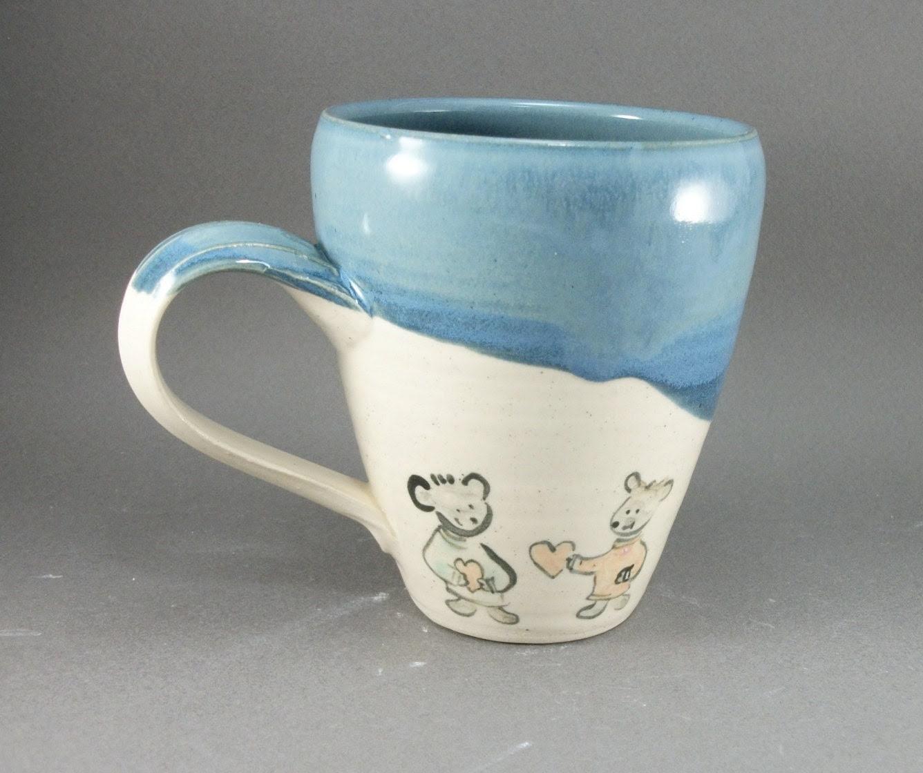 teddy bears and hearts mug