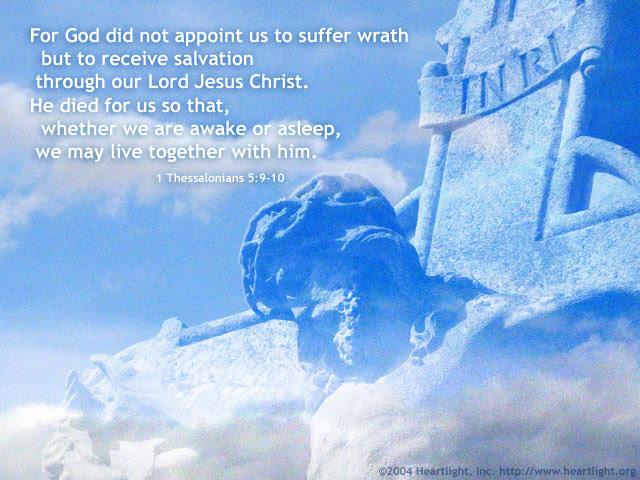 Inspirational illustration of 1 Thessalonians 5:9-10