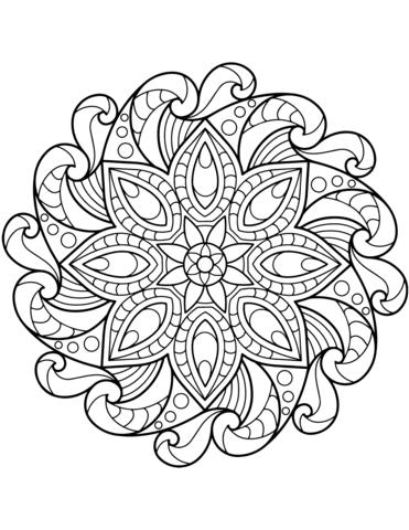 Coloriage Mandala Fleur Coloriages à Imprimer Gratuits