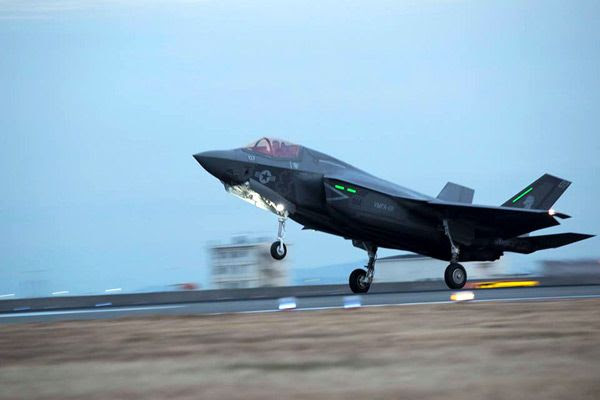 An F-35B Lightning II arrives at Marine Corps Air Station Iwakuni in Japan...on January 18, 2017.